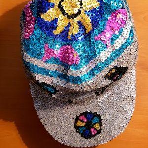Sequined cap